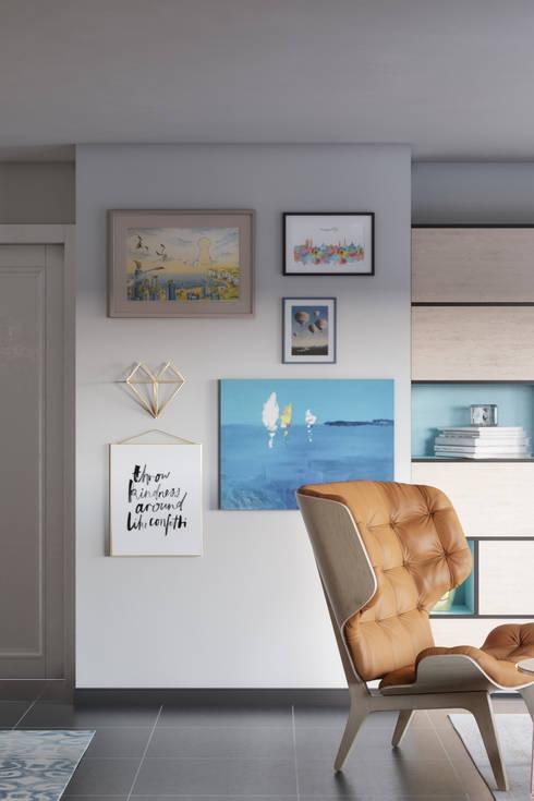 Elegant living area: Comedores de estilo  de Isabel Gomez Interiors