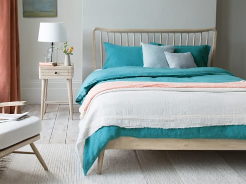 Lazy Linen In Kingfisher Colour Clic Bedroom By Loaf