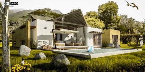 CASA SERENA: Casas campestres de estilo  por 365 Estudio