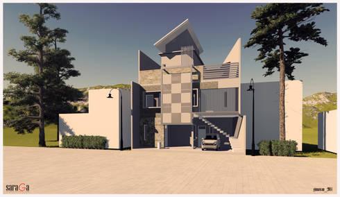 Rumah Tinggal Bandung:   by SARAGA Studio Arsitektur