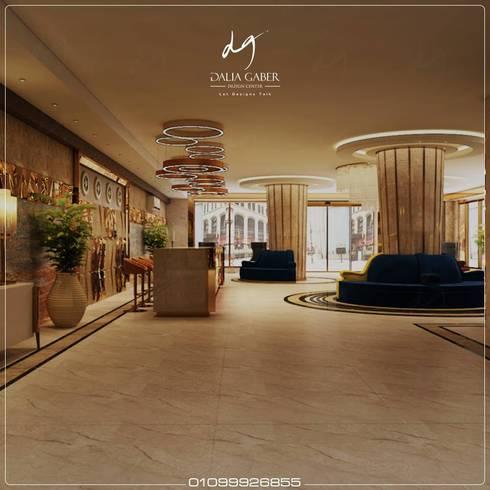 Lobby Hotel Entrance by Dalia Gaber :  تصميم مساحات داخلية تنفيذ DeZign center office by Dalia Gaber