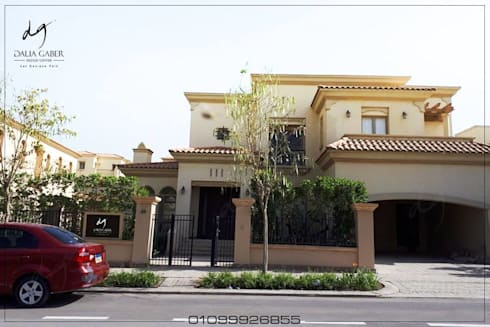 ​Eammr Villa Up Town Cairo by Dalia Gaber Dezignceter office:  تصميم مساحات داخلية تنفيذ DeZign center office by Dalia Gaber