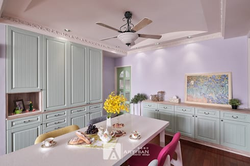 樂活  | 美式鄉村 3房2廳 |  芸匠室內設計 Artisan Design:  餐廳 by 芸匠室內裝修設計有限公司