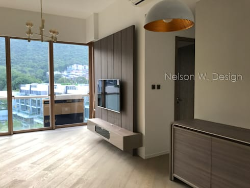 Mount Pavilia | Clear water bay | Hong Kong: modern Living room by Nelson W Design
