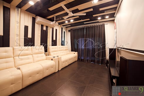 HOME THEATRE: modern Bedroom by Square 9 Designs