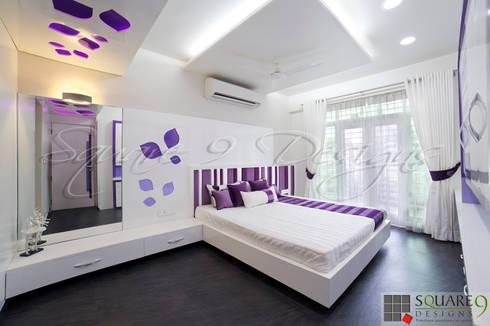 GIRL'S BEDROOM: modern Bedroom by Square 9 Designs