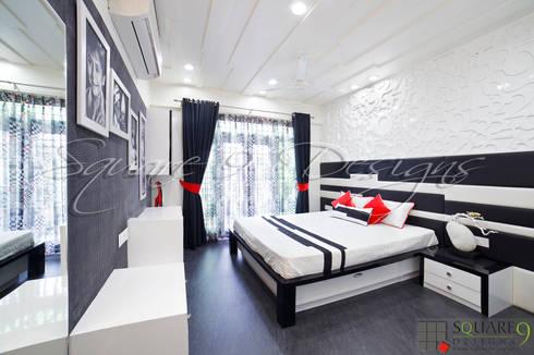 BOY'S BEDROOM: modern Bedroom by Square 9 Designs