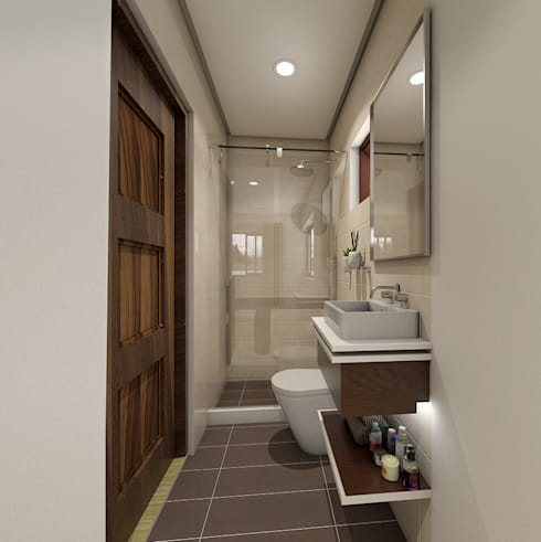 Brand new 2 storey house - Bathroom:  Bedroom by Architecture Creates Your Environment Design Studio