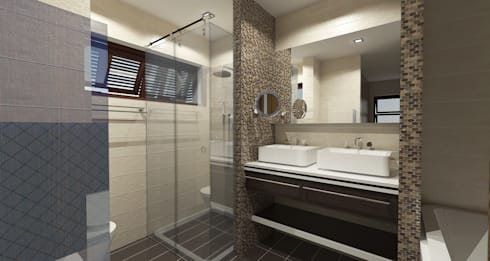 Major renovation and expansion project in Talisay City - bathroom: modern Bathroom by Architecture Creates Your Environment Design Studio