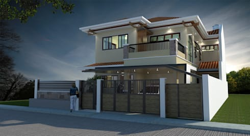 Major renovation and expansion project in Talisay City - Exterior :  Multi-Family house by Architecture Creates Your Environment Design Studio