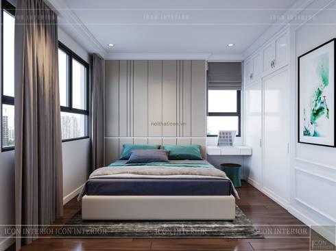 THIẾT KẾ CĂN HỘ CAO CẤP WILTON TOWER – Đẹp thanh lịch trong từng đường nét:  Phòng ngủ by ICON INTERIOR