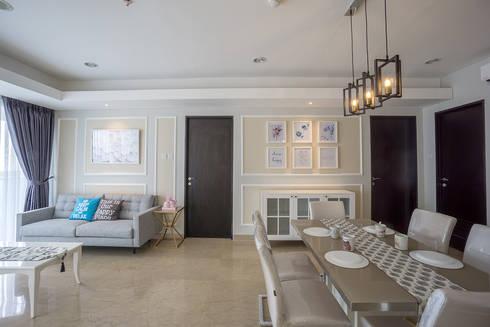 Apartemen Springhill:  Ruang Keluarga by Urbano Livings