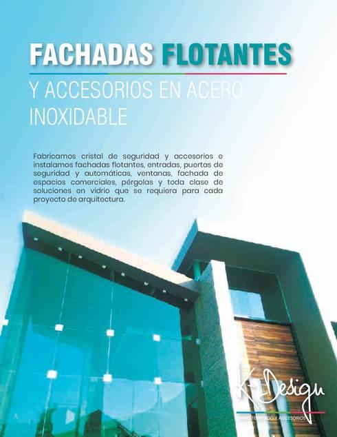 Soluciones en vidrio templado: Casas de estilo moderno por .K-Design arquitectura y diseño interior