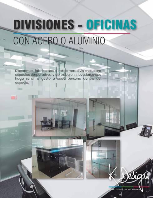 Soluciones en vidrio templado: Estudios y despachos de estilo moderno por .K-Design arquitectura y diseño interior