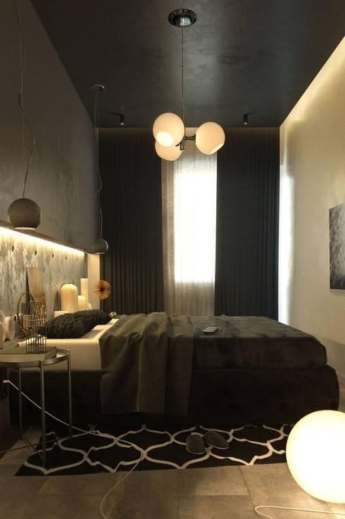 Projekty,  Sypialnia zaprojektowane przez Rerooms