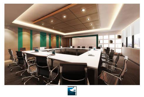 งานออกแบบสำนักงาน Siemens (Thailand ):  อาคารสำนักงาน by Blufox eco-solution Co., Ltd.