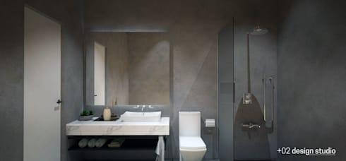 Slice House: minimalistic Bathroom by Plus Zero Two Design Studio