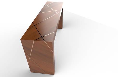 Solid Oak Server:  Corridor, hallway & stairs  by PurespaceDesign