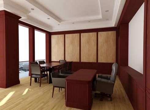 Oficina presidencia Banco Sudameris: Oficinas y tiendas de estilo  por Corte Verde SAS