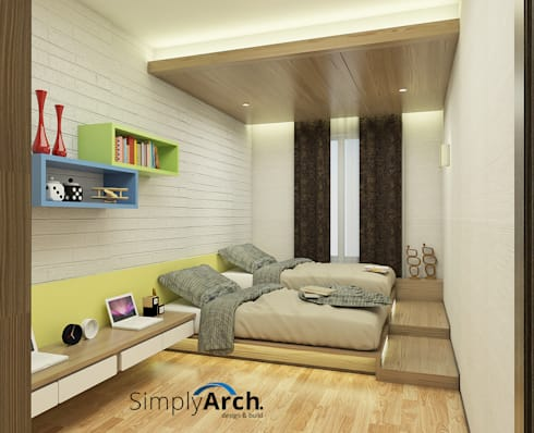 minimalistic Bedroom by Simply Arch.
