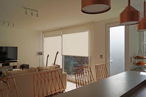 CASA AP: Casas de estilo moderno por NEF Arq.
