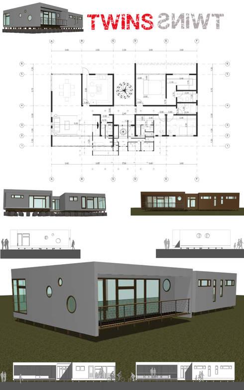 Casa Twins:  de estilo  por MAC SPA