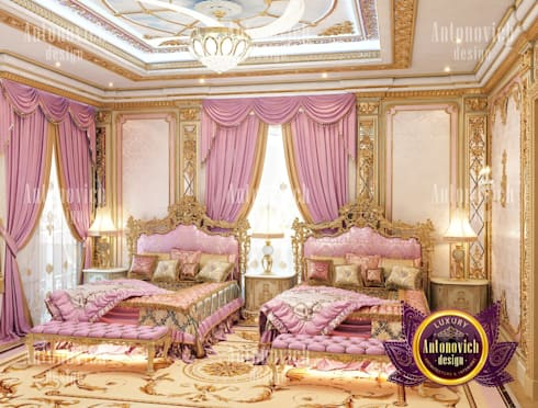 ​Beautiful ideas for kids room from Katrina Antonovich: classic Bedroom by Luxury Antonovich Design
