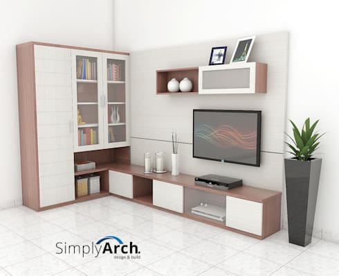 minimalistic Living room by Simply Arch.