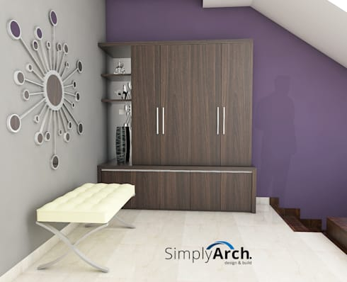 minimalistic Corridor, hallway & stairs by Simply Arch.