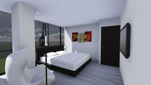 EDIFICIO EZKINA: Habitaciones de estilo minimalista por Corte Verde SAS