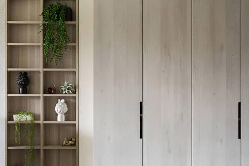 麥芽色的秋天:  玄關、走廊與階梯 by 達譽設計