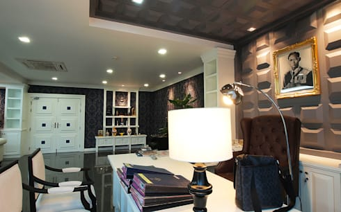 Modern Classic Office in Bangkok:   by Pilaster Studio Design