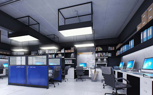 E&I Office :   by Pilaster Studio Design