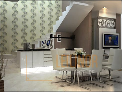 modern Dining room by CV Leilinor Architect