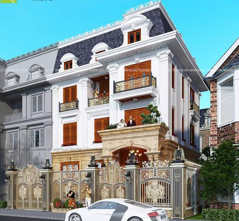 Kiến trúc biệt thự cổ điển đẹp:   by Kiến trúc Cần Thơ