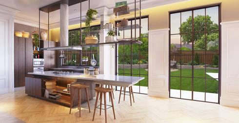 Interior Kartika House:  Ruang Makan by nakula arsitek studio