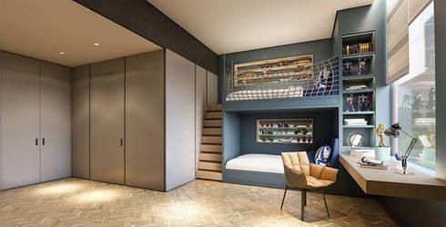 Interior Kartika House:  Kamar Tidur by nakula arsitek studio