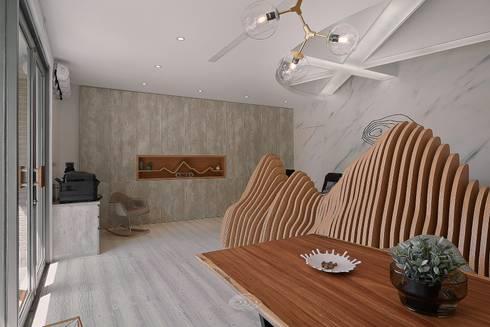 層層室內設計辦公室:  書房/辦公室 by 層層室內裝修設計有限公司