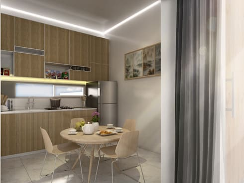 Interior Dapur :  Unit dapur by Atelier BAOU+