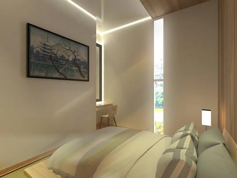 Kamar Tidur Utama :  Kamar Tidur by Atelier BAOU+