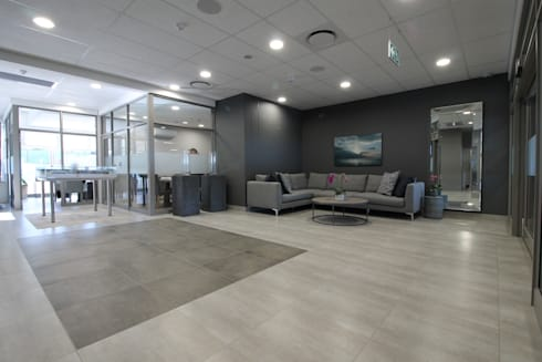 Waiting area:  Commercial Spaces by Projector & Sound Services (PTY) Ltd