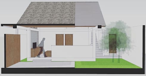 Side Elevation:  Single family home by Companion Architecture Studio
