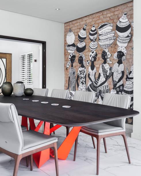 African Art meets European Design Fusion:   by Deborah Garth Interior Design