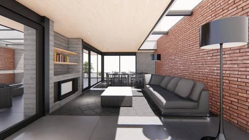 CASA LONCO PARQUE: Casas unifamiliares de estilo  por Sociedad Comercial & Ingeniería ING Spa.