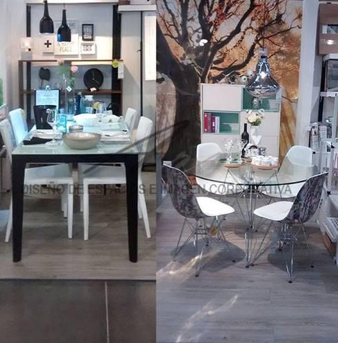 comedores estilo  industrial: Comedor de estilo  por Sara villa diseño interior