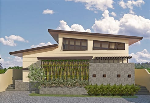 Two Storey Residence at San Miguel Bulacan:  Multi-Family house by MG Architecture Design Studio