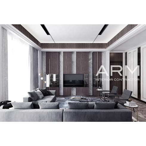 Interior Apartemen Jakarta:  Ruang Keluarga by PT Adhi Rajasa Mahawirya