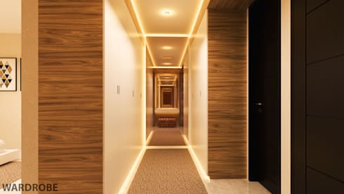 YN House, Interior Design:  Ruang Ganti by dk.std.id