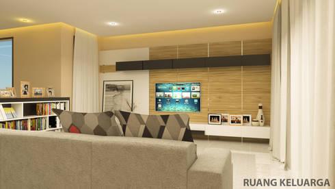 YN House, Interior Design:  Ruang Keluarga by dk.std.id