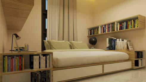 YN House, Interior Design:  Kamar Tidur by dk.std.id